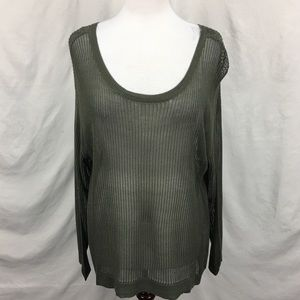 NWT Lane Bryant Olive Green Loose Knit Sweater